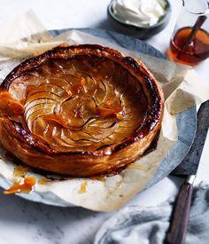 Australian Gourmet Traveller recipe for tarte fine aux pommes. Apple Tart Recipe, Apple Pie Recipes, Tart Recipes, Gourmet Recipes, Sweet Recipes, Baking Recipes, Apple Pies, 13 Desserts, Apple Desserts