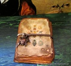 Spider Study paper stack ooak dollhouse miniature in one inch scale. $10.00, via Etsy.