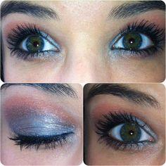 Blue eyeshadow for green eyes!