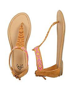 Tribal T-Strap Sandals