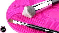 Sigma Spa Express Mat™  http://www.sigmabeauty.com/sigma-spa-express-brush-cleaning-mat/p/EM001