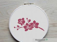 cross stitch pattern orchids modern cross stitch by Happinesst