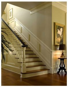Nice moldings accentuate interior - traditional - Staircase - Charleston - Christopher A Rose AIA, ASID House Design, House, Home, Georgian Homes, Georgian Interiors, Staircase Design, Wainscoting, Staircase Molding, Stairs