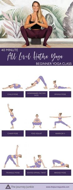 Feeling lost on your mat? Not flexible enough for yoga? A complete beginner or the most advanced yogi of all? This Beginner Hatha Yoga Class for ALL LEVELS is for you (and anyone Yoga Sequence For Beginners, Yoga Routine For Beginners, Exercises, Workouts, Beginner Yoga Workout, Trauma Therapy, Yoga For All, Gentle Yoga, Learn Yoga