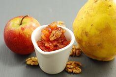 MERMELADA DE MEMBRILLO, MANZANA Y NUECES QUINCE, APPLE AND NUTS JAM Confiture de Coings aux Pommes et aux Noix