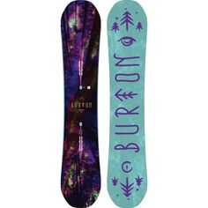 Burton Deja Vu Flying V Snowboard - $499.95 - The Burton Women's Deja Vu Flying V snowboard is ideal for freestyling the entire mountain. The Flying V bend helps make the board catch free while still giving you enough grip to stomp your landings. The infinite ride feature ensures that the bend will stay the same from day one to one hundred so you can bank on this board lasting. The lightweight pro-tips with scoop technology will help you spin faster and jib harder.
