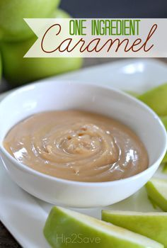 ONE Ingredient Caramel Sauce/Dip by Hip2Save.com