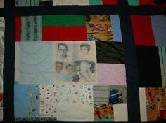 Dad's quilt - Close