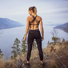 It's a nice view from the top! Knee Brace, Nice View, Celebrity News, Leather Pants, Layers, Sporty, Celebrities, Tops, Style