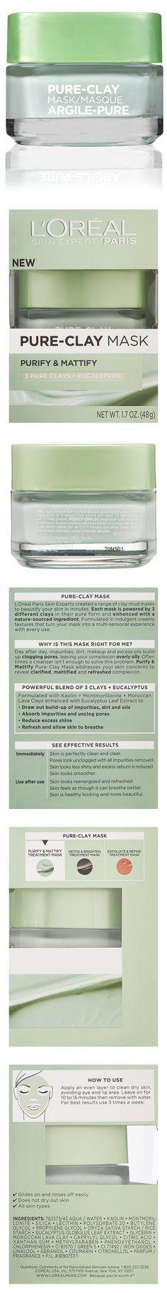 L'Oreal Paris Skin Care Pure Clay Mask Purify and Mattify #beauty #lorealparis