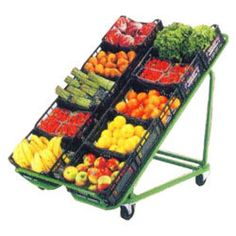 Concept for basic display structure Shop Shelving, Shelves, Vegetable Rack, Supermarket Design, Fruit Shop, Store Layout, Farm Store, Fruit Stands, Fruit Displays