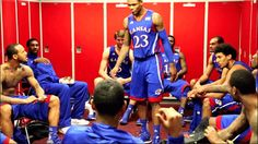 kansas university basketball team picture in locker room - Google Search
