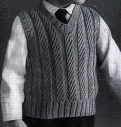 Boy's Slipover knit pattern from Fashions in Wool for Little Tots, originally published by Hilde, Volume 115.