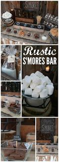 rustic s'mores bar station was at a backyard wedding! See more party ideas . This rustic s'mores bar station was at a backyard wedding! See more party ideas . - -This rustic s'mores bar station was at a backyard wedding! See more party ideas . Perfect Wedding, Dream Wedding, Wedding Day, Wedding Rustic, Trendy Wedding, Wedding Burlap, Wedding Favors, Wedding Summer, Wedding Signs