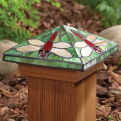 Garden Post Cap - Dragonfly Now on sale for $8.75