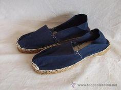 antiguas alpargatas nuevas color azul - Foto 1