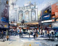 "David #ATKINS, ""LONDON PICCADILLY CIRCUS"" #art #artwit #twitart #iloveart #artist #DavidAtkins #london"