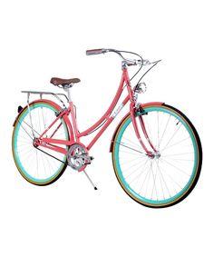 Pink & Teal 44 CM City Bike