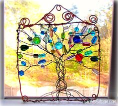 How to make a wire wrapped tree suncatcher! Beautiful!