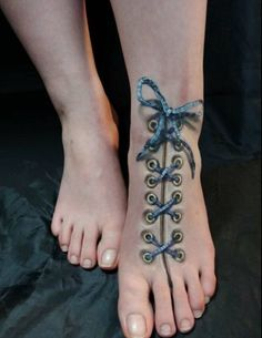 SHOESLACES 3D TATTOO