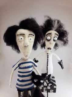 Vincent Price / Tim Burton Ready for go. Tim Burton, Vincent Price, Gothic Dolls, Get Fresh, Gothic Outfits, Doll Maker, Gothic Art, Feeling Special, Felt Art
