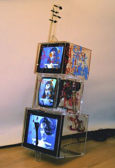 Nam June Paik: TV Cello (2003). © Nam June Paik Estate