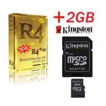 Gold R4i 3DS Edition card with a 2GB Kingston or SanDisk microSD TransFlash Memory Card enable your Nintendo 3DS v4.4.0-10 / DS / DSL / DSi v1.4.4 and now DSi XL    Price:£19.16  Shipping:Free Shipping