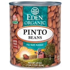 Pinto Beans, Organic, BPA free lined can More