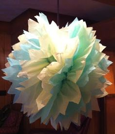 The Curvy Life: Cold Weather Craft Day-Tissue Paper Pom-Pom's