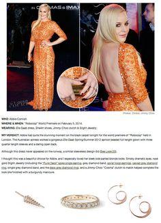 Abbie Cornish in Grey Diamond Rings and Rose Gold Jewelry by Slight Jewelry #GreyDiamonds #GreyDiamondRings http://slightjewelry.com