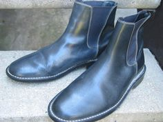 Cole Haan Black Leather Used Boots 9.5 M #ColeHaan #AnkleBoots