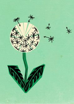 love this 1930's inspired dandelion print!