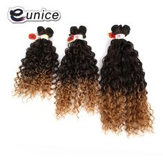 Kinky Curly Weave Ombre Hair Extension Machine Weft Eunice Hair Free Shipping No Tangle Synthetic Braiding Hair For Women