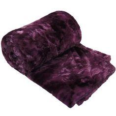 World Menagerie Ion Double Sided Faux Fur Throw Blanket Color: Purple Tie Dye Blanket, Faux Fur Blanket, Faux Fur Throw, Cotton Blankets, Soft Blankets, Woven Blankets, Tie Dye Bedding, Faux Fur Bedding, Bnf