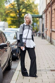 Hilda Sandstrom in Stockholm #style #fashion #layers #streetstyle