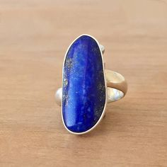 Lapis Lazuli Ring Lapis and Silver Ring Lapis Ring Gemstone