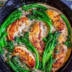 One Skillet Chicken & Broccolini with Mustard Cream Sauce is a quick, easy and healthy way to add flavor to your #mealpreps! AND use that new veggie we mentioned yesterday, broccolini! _ Ingredients 1 and 1/2 pounds chicken tenderloins*, thawed salt and pepper 1/4 cup flour 2-3 tablespoons olive oil 1 pound @melissasproduce broccolini, trimmed and sliced in half lengthwise water and salt (to blanch broccolini) 1 tablespoons olive oil, pluse more if needed 1 very large shallot (or 2…