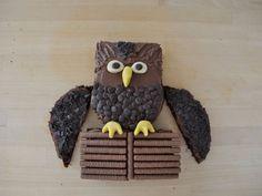 Der kommt bei Klein und Groß gut an: Eulenkuchen mit ganz viel Schokolade  