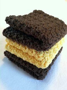 Cotton Crochet Dishcloths Crochet Washcloths by Shoppebylola,