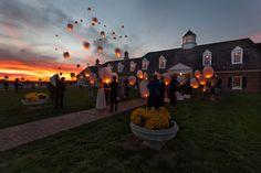 Lantern ceremony at Mildale Farm in Edgerton KS