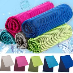Ice Towel Utility Enduring Cooling Towel Heat Relief Reusable Cool Fitness Yoga Towels TB Sale 90x33cm