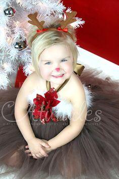 Reindeer Tutu Dress by Atutudes Rudolph Tutu Dress por atutudes, $59.95