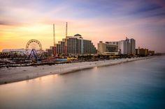 Daytona Beach Florida  #DaytonaBeach #Daytona #Florida #Beach #Sunset #FerrisWheel #TravelBlog #Travel #Blog