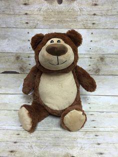 Baby Cubbies Personalized Stuffed Brown by LittleRedEmbroidery