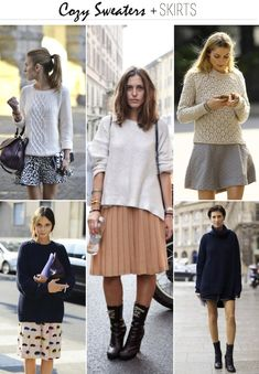 Craving: Cozy Sweaters + Skirts