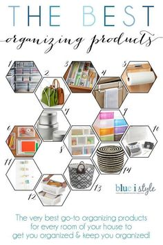 This is the BEST list of go-to products to help you get organized and stay organized! These products are versitile enough to serve many different organizing needs in every room of your home.