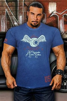 Find short sleeve shirts for bodybuilders and powerlifters at HOT BODZ. Featuring a wide selection of fitted shirts, tees and polos! Bodybuilding T Shirts, Tshirts Online, Workout Shirts, Polo, Tees, Unique, Fitness, Mens Tops, Design