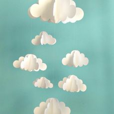 Clouds Hanging Baby Mobile by Gosh & Golly