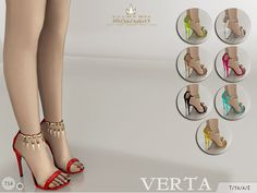 Madlen Verta Shoes by MJ95 at TSR • Sims 4 Updates