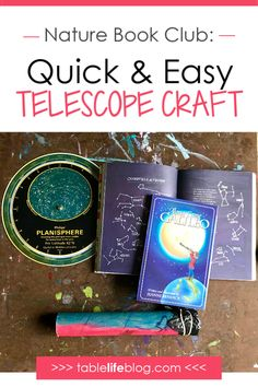 Nature Book Club: Easy Telescope Craft for Kids - Nature Science Crafts, Science Activities For Kids, Preschool Science, Science Lessons, Lessons For Kids, Teaching Science, Science Fun, Nature Activities, Science Experiments
